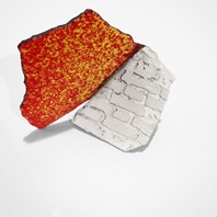 Han-Chieh Chuang Red Brick small brooch