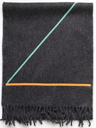 'Ribbon' collection, Angor wool scarves - Charcoal 1