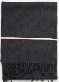 'Ribbon' collection, Angor wool scarves - Charcoal 2