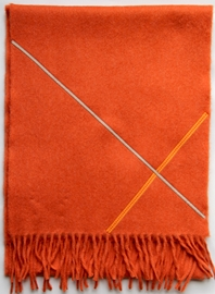 'Ribbon' collection, Angor wool scarves - Paprika