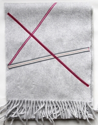 'Ribbon' collection, Angor wool scarves - Silver