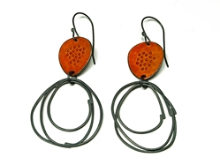Caroline Finlay burnt orange earrings