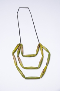 My Seoul oxidised and lime green necklace
