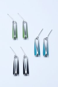 Group of small teardrop earrings