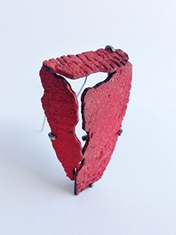 Han-Chieh Chuang Red Brick Brooch