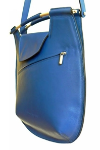 Fossie bag Blue Leather