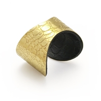 Etched gold and black 'Skin' Cuff