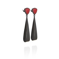 Earrings Oxidised Silver / Enamel