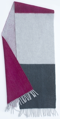 JKD Angora wool colour block scarf