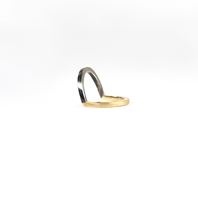 LINE MIXED METAL CORNER RING