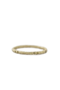 Yellow gold scattered eternity ring with 16 yellow diamonds