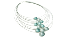 SIlver and Enamel Cascade Necklace