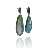 Oxidsed Painterly Irregular Earrings