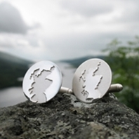 Scottish Outline cufflinks silver