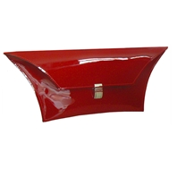 Patent red Kylie clutch