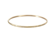 Yellow gold bangle with 18ct yellow gold dust fusing and 16 cognac diamonds