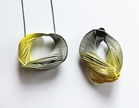 Yellow Twist Pendant and Pin